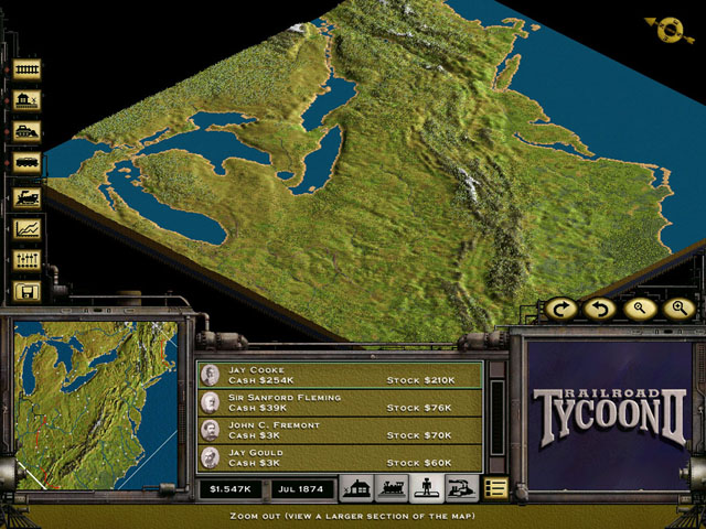 GameOver - Railroad Tycoon 2 (c) Gathering of Developers